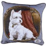 West Highland Terrier – Tapestry filled cushion-0