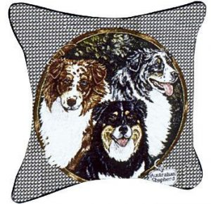 Australian Shepherd - Tapestry filled cushion-0
