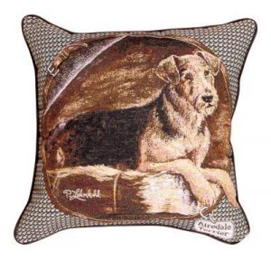 Airedale Terrier - Tapestry filled cushion-0