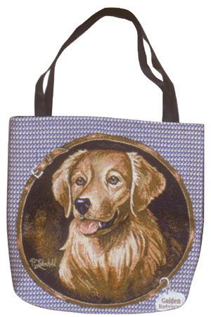 Golden Retriever Tapestry Tote bag-0