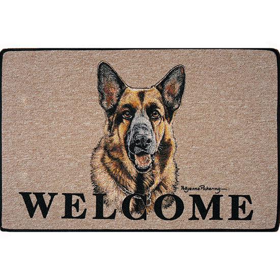 German Shepherd Dog Coir Door Mat-0