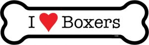 I Love Boxers - Bone Shaped Magnet-0