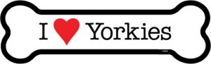 I Love Yorkies - Bone Shaped Magnet-0