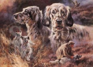 English Setters - Blank Card-0