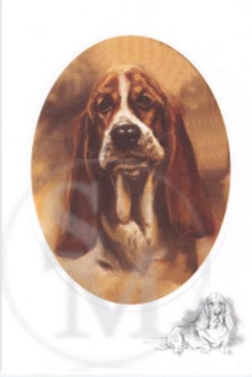 The Basset Pup - Blank Notelet-0