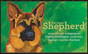 German Shepherd Door Mat-0