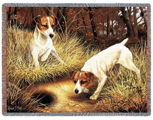Jack Russell  Tapestry Throw-0