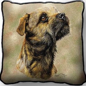 Border Terrier - Tapestry Cushion Cover-0
