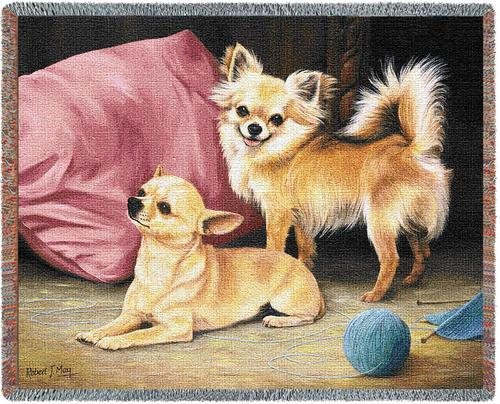 Chihuahua – Tapestry Throw-0