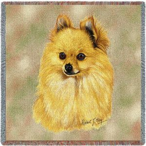 Pomeranian - Square Tapestry Throw-0
