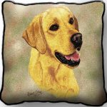 Labrador -yellow - Tapestry Cushion Cover-0