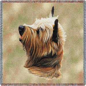 Cairn Terrier Square Tapestry Throw-0