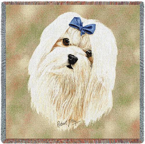 Maltese – Square Tapestry Throw-0