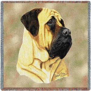 Bullmastiff Square Tapestry Throw-0
