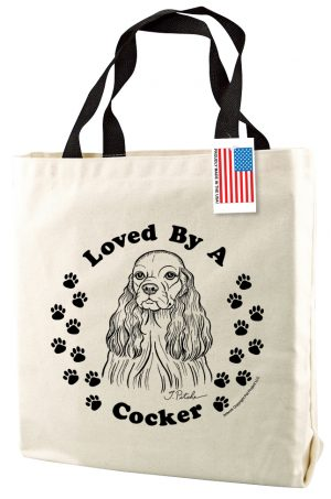 Loved By A Cocker - Natural Tote Bag-0