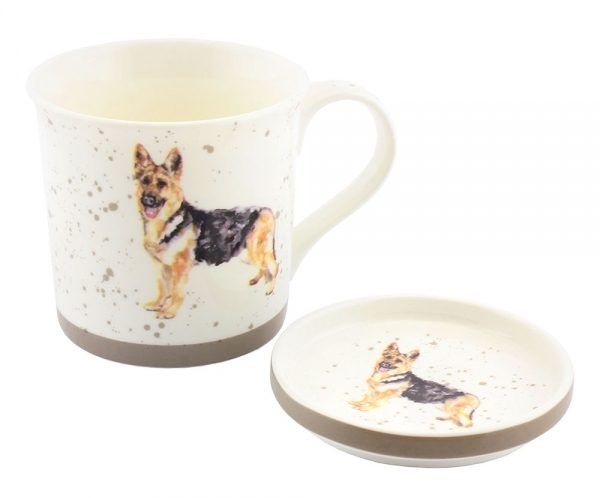 German Shepherd – Fine China Mug & Coaster set-0