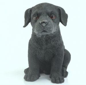 Black Labrador Puppy figurine-0