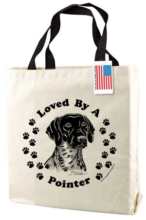 Loved By A Pointer - Natural Tote Bag-0