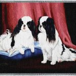Japanese Chin- Tapestry Throw-0