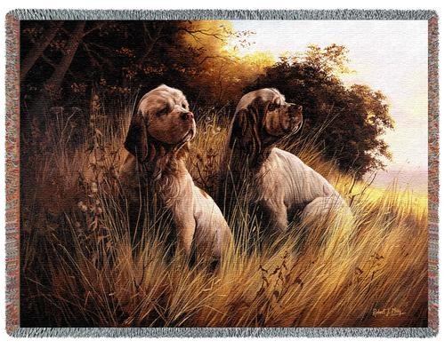 Clumber Spaniel – Tapestry Throw-0