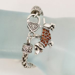 Dachshund Bracelet with Topaz accent-0