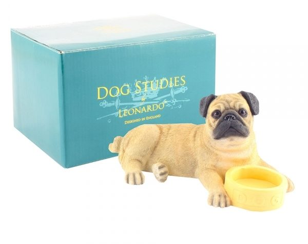 Pug with Bowl Figurine-0