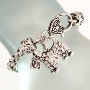 Scottish Terrier Dog with crystals Bracelet-0
