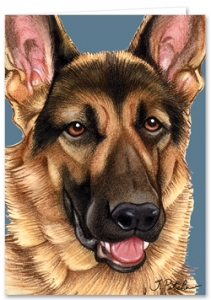 German Shepherd - Blank Card-0