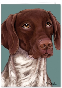 German Shorthaired Pointer - Blank Card-0