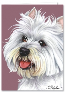 West Highland Terrier - Blank Card-0