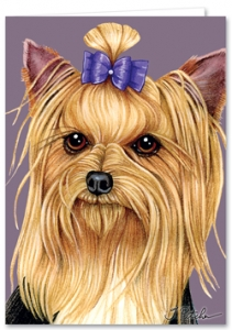 Yorkshire Terrier - Blank Card-0