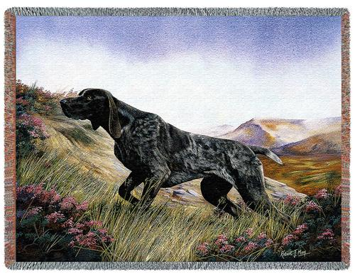 German Shorthaired Pointer – Tapestry Throw-0