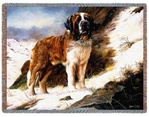 Saint Bernard Tapestry Throw-0