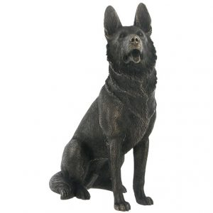Sitting German Shepherd - Cold Cast Bronze-0