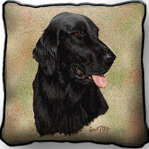Flat Coated Retriever - Tapestry Cushion Cover-0