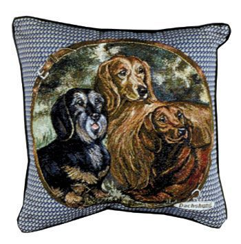 Dachshund - Tapestry filled cushion-0