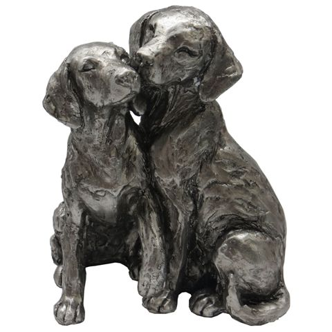 Two Sitting Labradors Sculpture-0