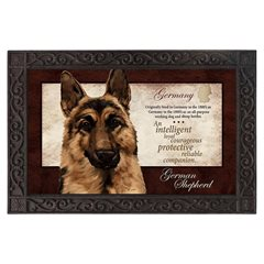 German Shepherd Silk Reflections Indoor/Outdoor Mat-0