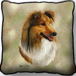 Shetland Sheepdog 2 Tapestry Cushion Cover-0