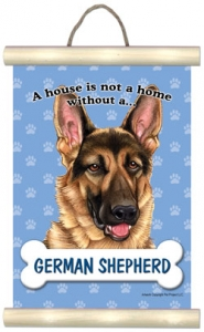 German Shepherd - Hanging Mini Scroll-0