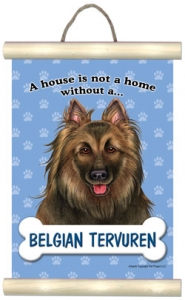Belgian Tervuren- Hanging Mini Scroll-0