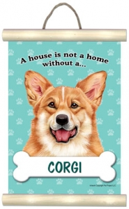 Welsh Corgi - Hanging Mini Scroll-0