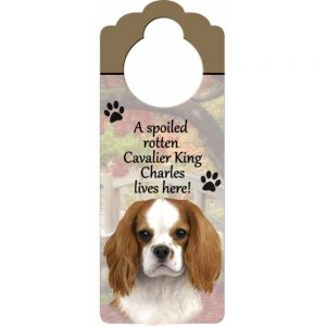 Cavalier King Charles Spaniel Door Knob Sign-0
