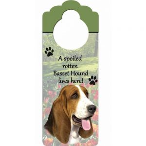 Bassett Hound Door Knob Sign-0