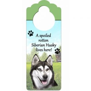 Siberian Husky Door Knob Sign-0