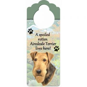Airedale Door Knob Sign-0