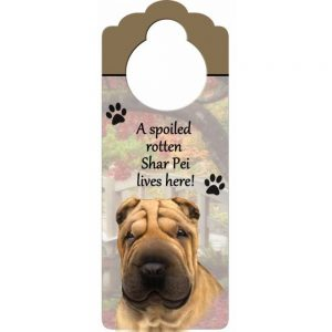 Shar Pei Door Knob Sign-0