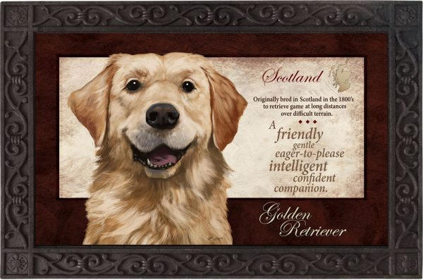 Golden Retriever Silk Reflections Indoor/Outdoor Mat-0