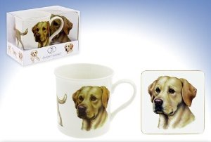 Labrador (yellow) – Fine China Mug & Coaster set-0