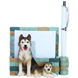 Siberian Husky Memo Holder -0